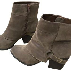 Grey booties (very comfortable) never worn